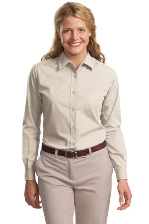 Port Authority® - Ladies Long Sleeve Easy Care, Soil Resistant Shirt. L607
