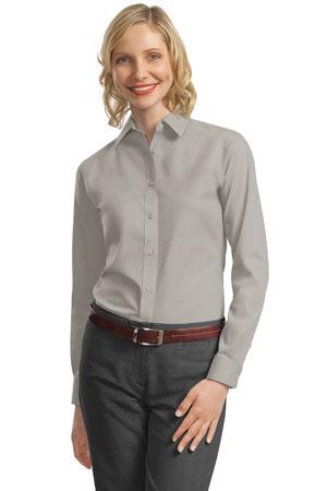 Port Authority® - Ladies Long Sleeve Value Poplin Shirt. L632