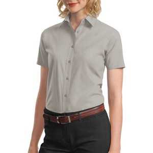 Port Authority® - Ladies Short Sleeve Value Poplin Shirt. L633