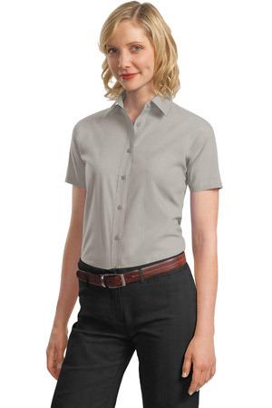 Port Authority® - Ladies Short Sleeve Value Poplin Shirt. L633