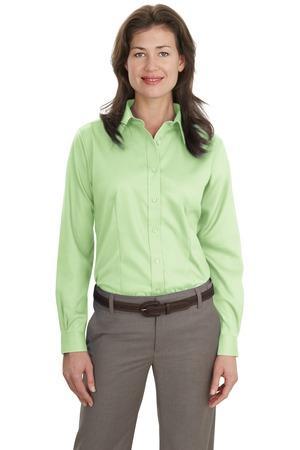 Port Authority® - Ladies Long Sleeve Non-Iron Twill Shirt. L638