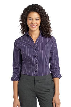 Port Authority® - Ladies Vertical Stripe 3/4-Sleeve Easy Care Shirt. L643