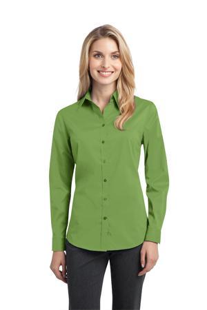 NEW Port Authority® - Ladies Stretch Poplin Shirt. L646