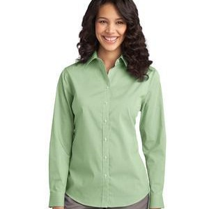 NEW Port Authority® - Ladies Fine Stripe Stretch Poplin Shirt. L647