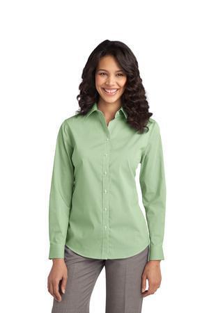 NEW Port Authority® - Ladies Fine Stripe Stretch Poplin Shirt. L647
