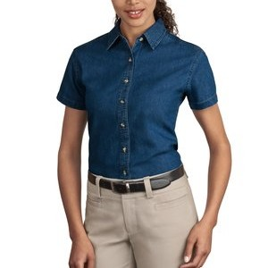 Port & Company® - Ladies Short Sleeve Value Denim Shirt. LSP11