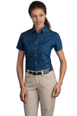 Port & Company® - Ladies Short Sleeve Value Denim Shirt. LSP11