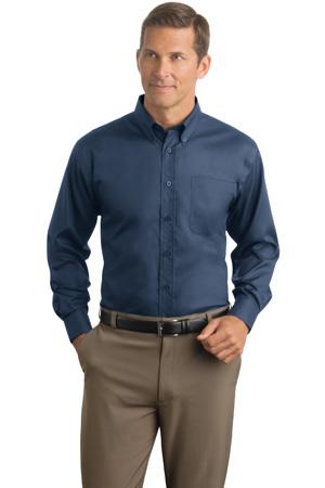 Red House® - Herringbone Non-Iron Button-Down Shirt. RH38