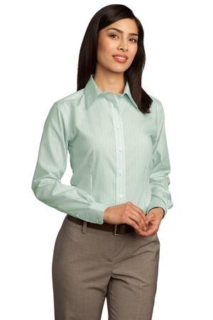 Red House® - Ladies Fine Line Non-Iron Button-Down Shirt. RH42