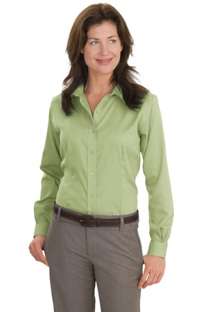 Red House® - Ladies Nailhead Non-Iron Button-Down Shirt. RH47