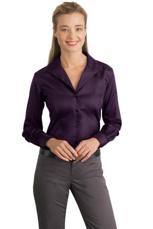 Red House® - Ladies Herringbone Non-Iron Button-Down Shirt. RH48