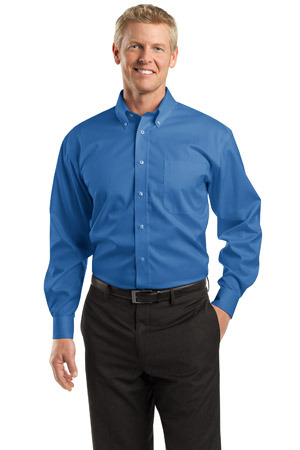 Red House® - Dobby Non-Iron Button-Down Shirt. RH60
