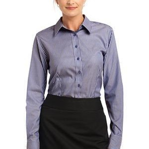 Red House® - Ladies Stripe Non-Iron Pinpoint Oxford. RH65