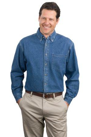 Port Authority® - Heavyweight Denim Shirt. S100