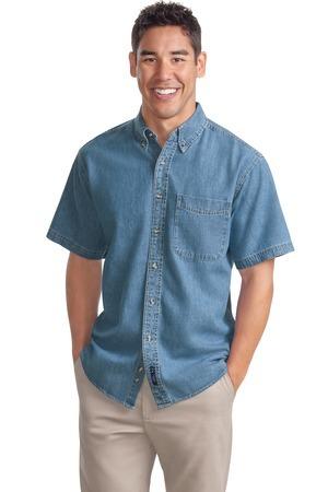 Port Authority® - Short Sleeve Denim Shirt. S500