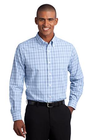 Port Authority®Crosshatch Plaid Easy Care Shirt. S641