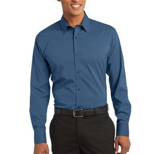 NEW Port Authority® - Stretch Poplin Shirt. S646