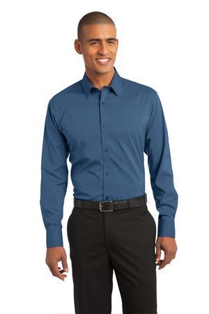 NEW Port Authority® - Stretch Poplin Shirt. S646