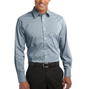 NEW Port Authority® - Fine Stripe Stretch Poplin Shirt. S647
