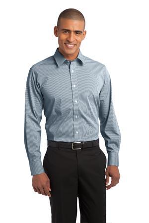 NEW Port Authority® - Fine Stripe Stretch Poplin Shirt. S647