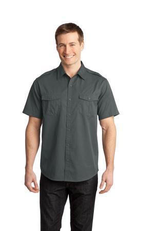 NEW Port Authority® - Stain-Resistant Short Sleeve Twill Shirt. S648