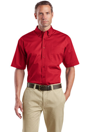 CornerStone® - Short Sleeve SuperPro Twill Shirt. SP18