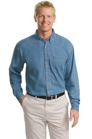 Port Authority® - Tall Long Sleeve Denim Shirt. TLS600